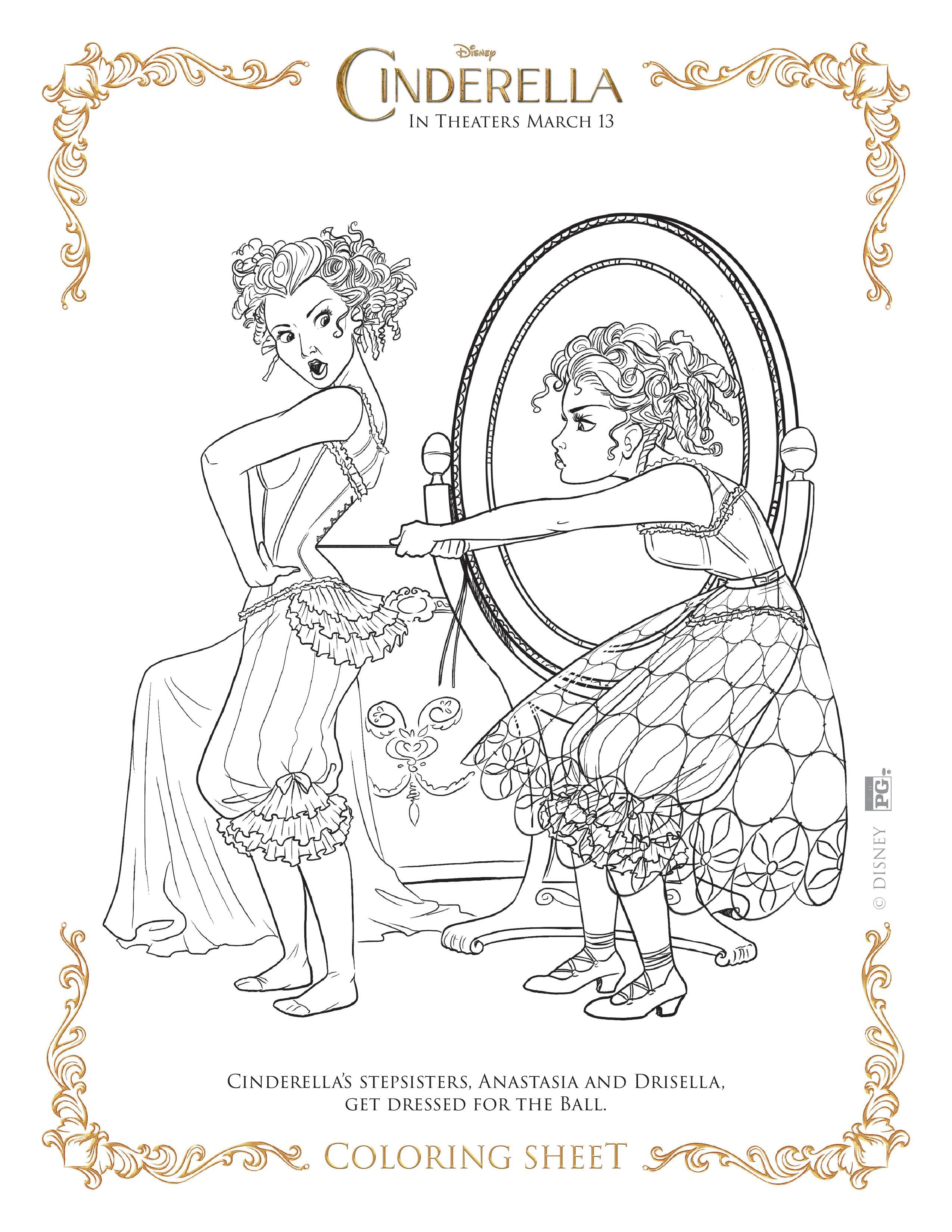 new disneys cinderella coloring pages and activity sheets - Cinderella Coloring Pages Kids