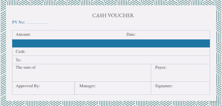 Cash Voucher Pinterest Template and Photoshop illustrator - blank memo template