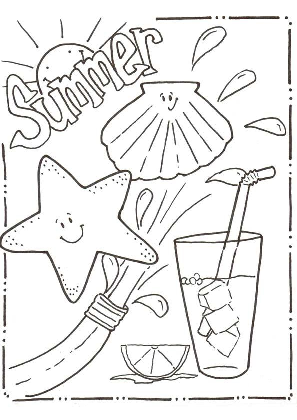 Summer Coloring Pages for Kids. Print them All for Free.  Summer