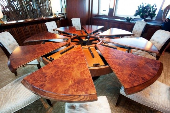 Expandable Large Round Dining Room Tables with Chairs ...