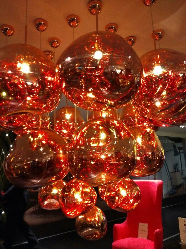 Rose gold melt lamps at Harrods   Interior Designs   Pinterest