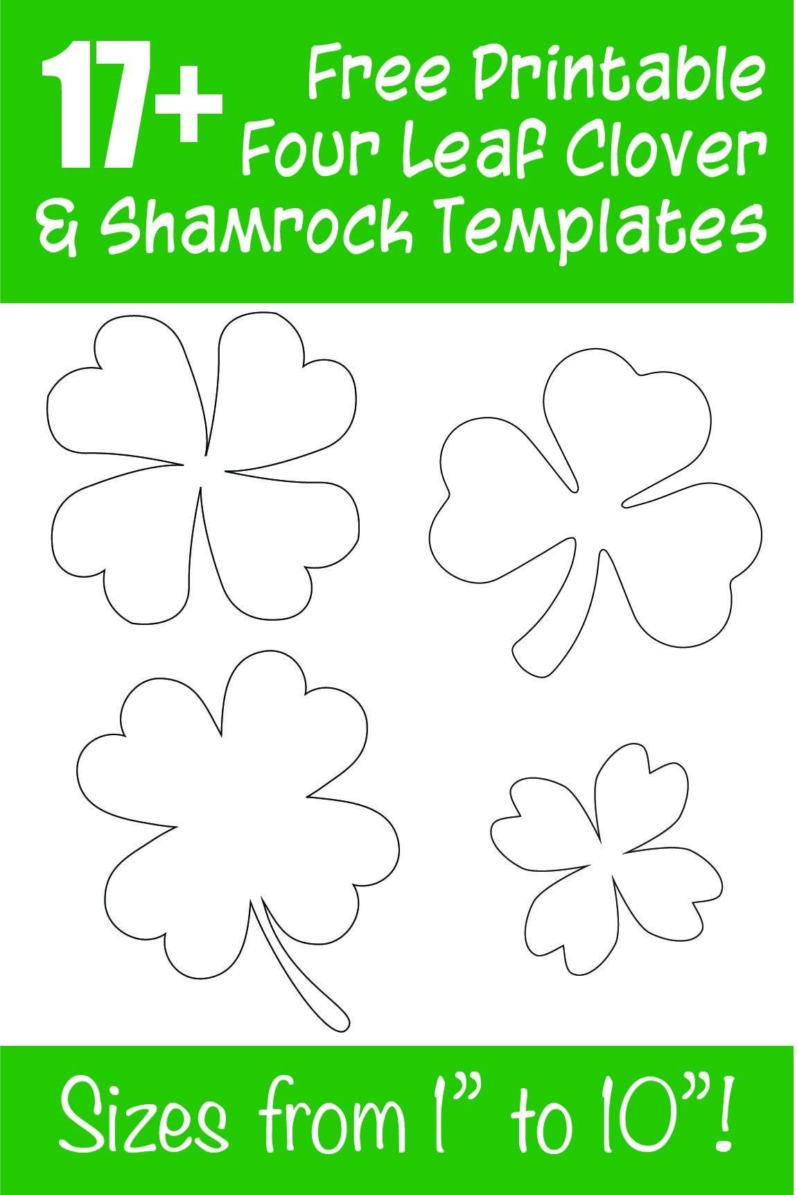 15 Free Printable Four Leaf Clover Shamrock Templates