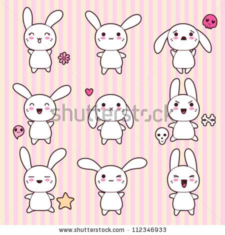 Kawaii Bunny Cerca Con Google Cute Lapin Dessin Facile