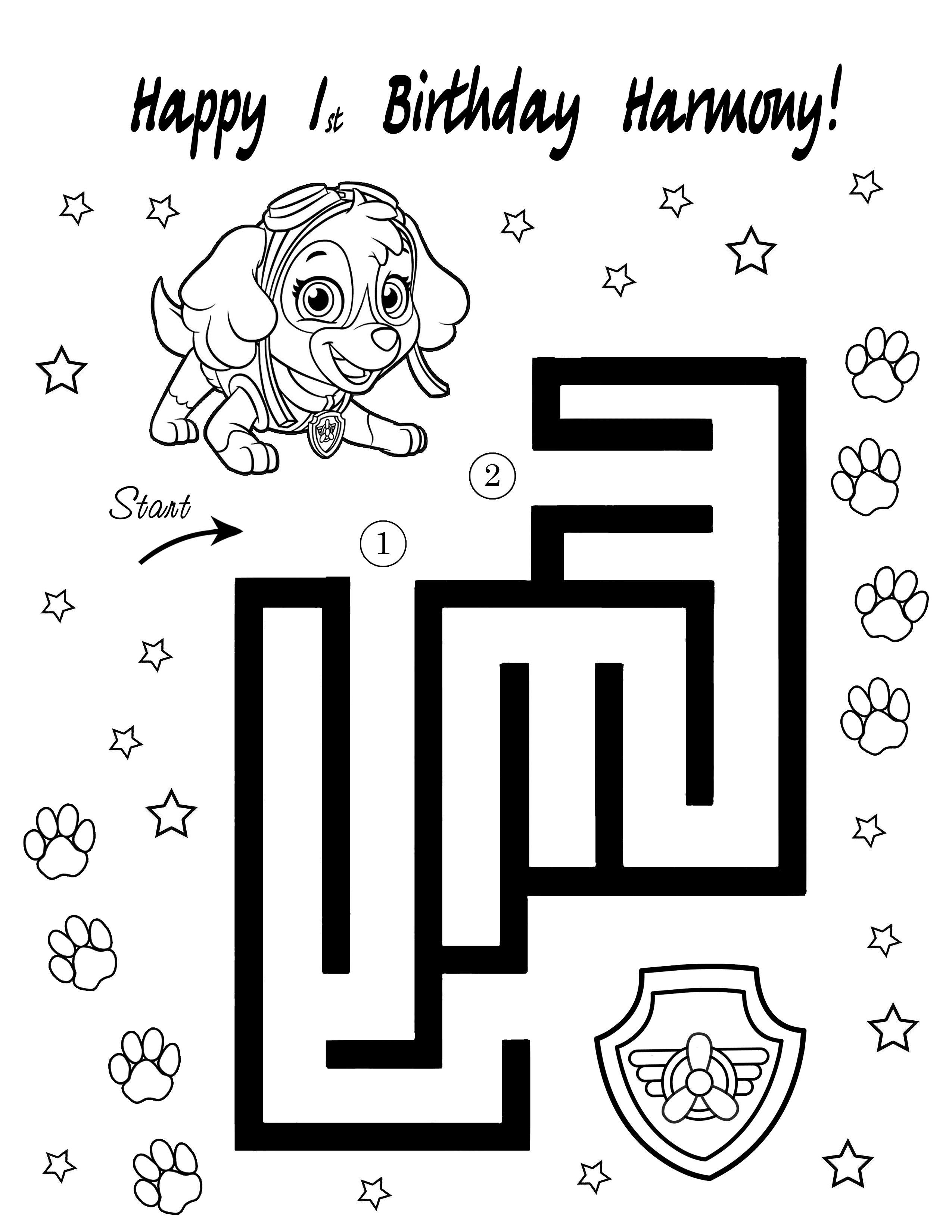 sky paw patrol coloring pages sky paw patrol birthday