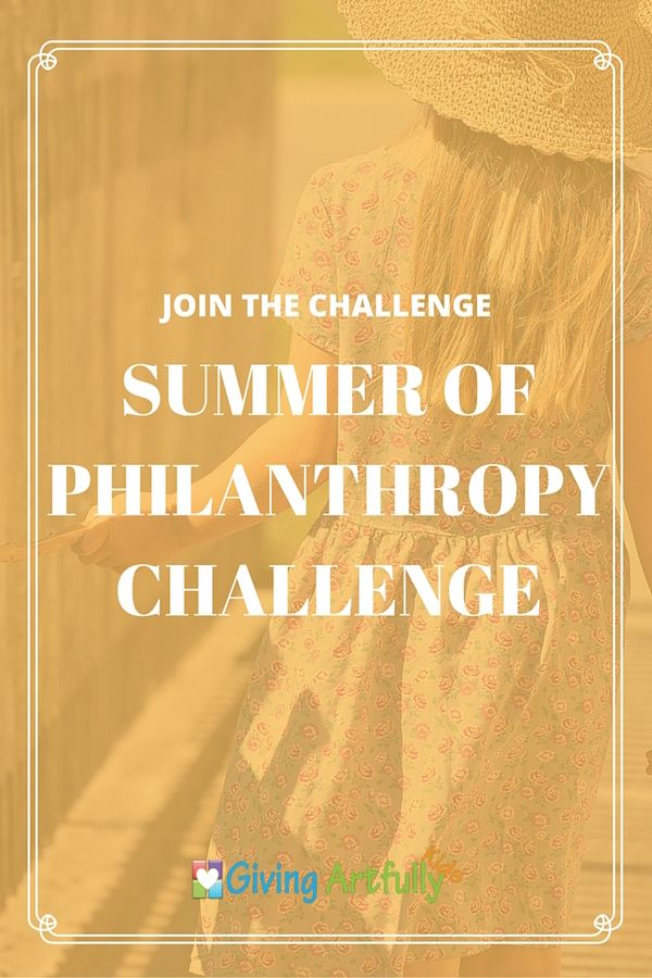 Summer Challenge to encourage children to continue giving throughout the summer. Tips and ideas for DIY crafts and where to donate items
