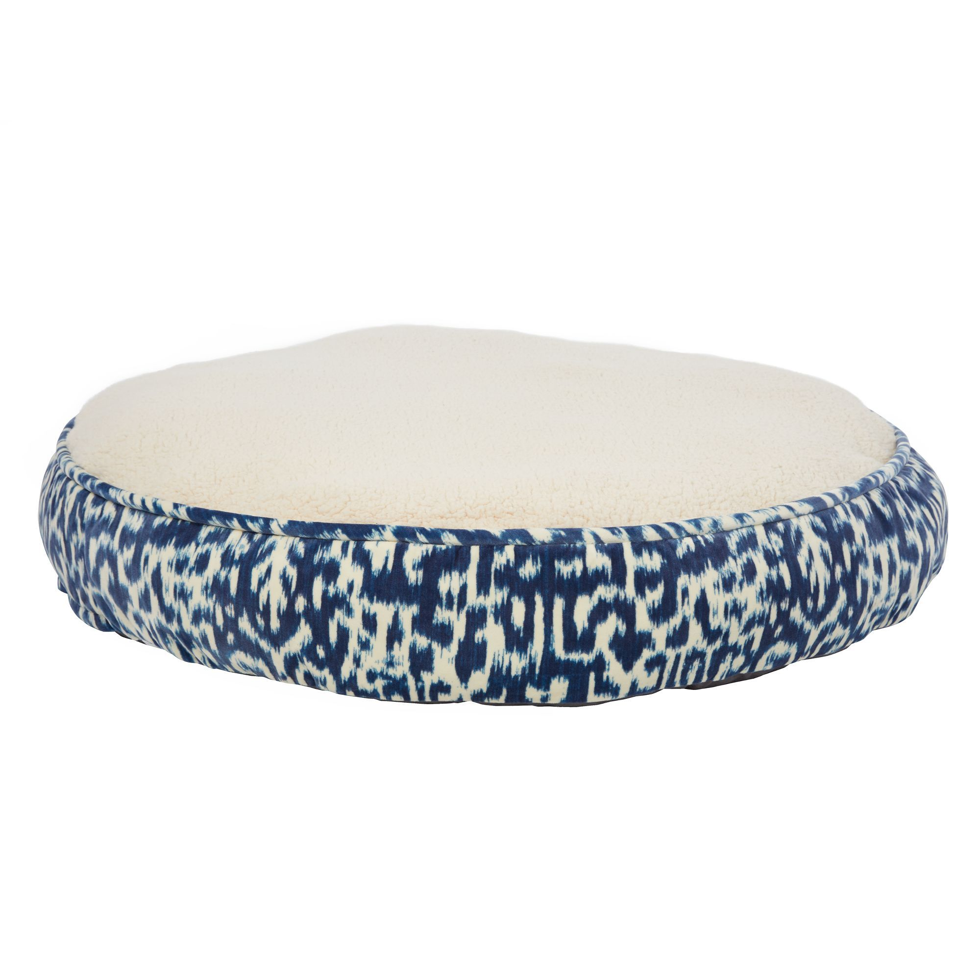 Top Paw Overstuffed Extra Support Round Mattress Pet Bed