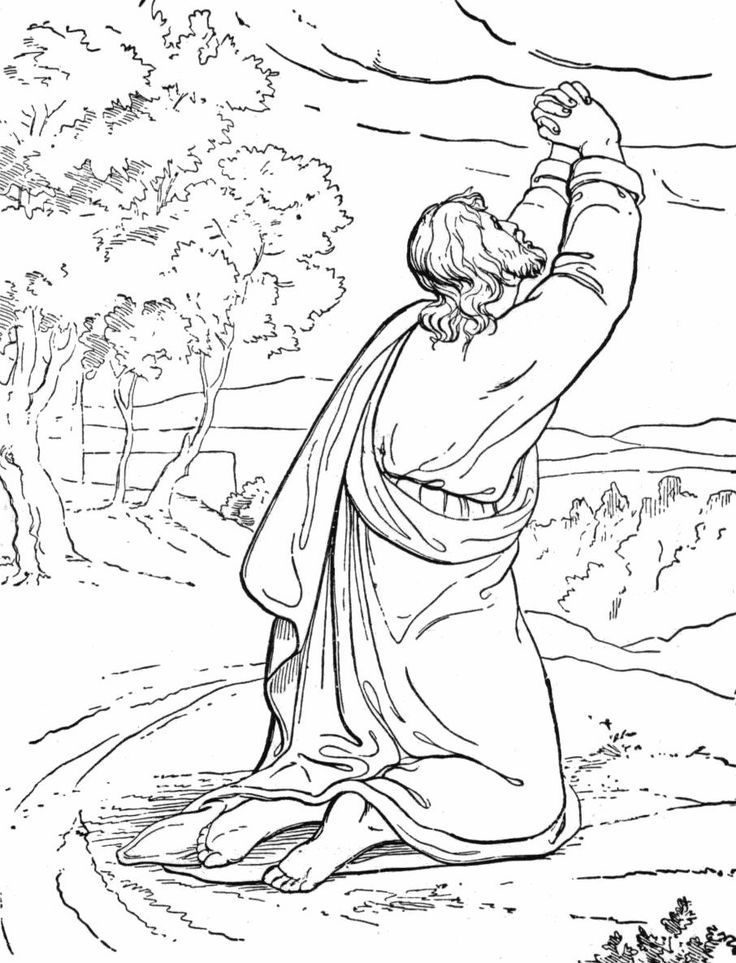 The Temptation Of Jesus Coloring Page Jesus Coloring Pages
