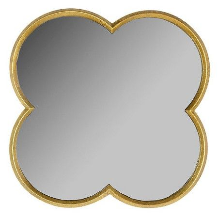 Quatrefoil Decorative Wall Mirror Gold Finish Threshold Mirror Wall Decor Mirror Wall Quatrefoil