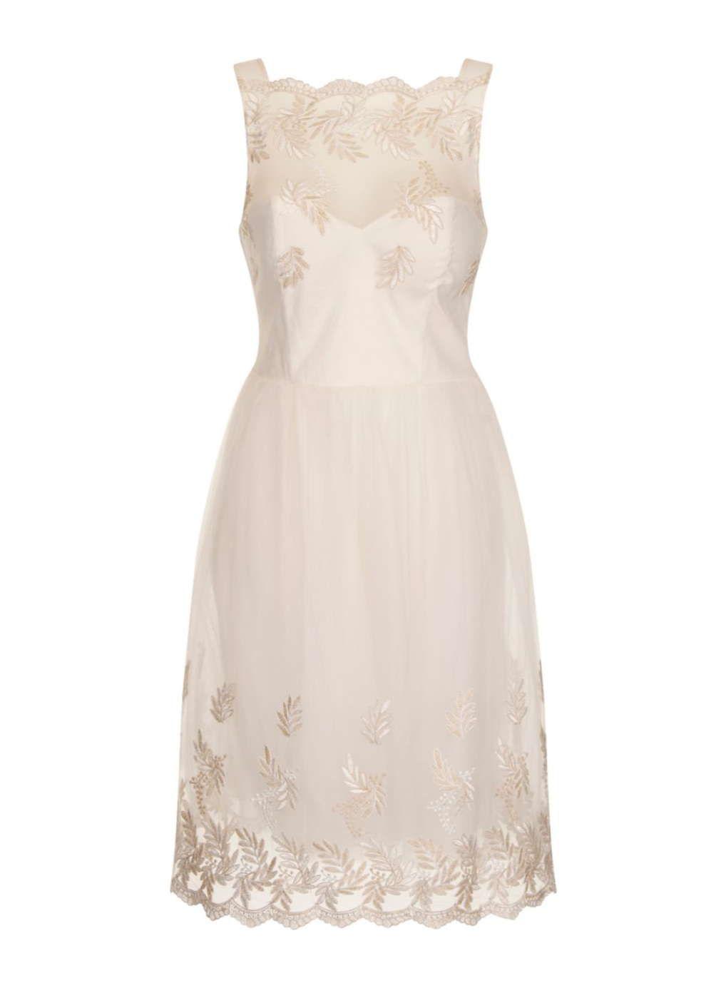 Little mistress cream embroidered prom dress wedding dress and wedding