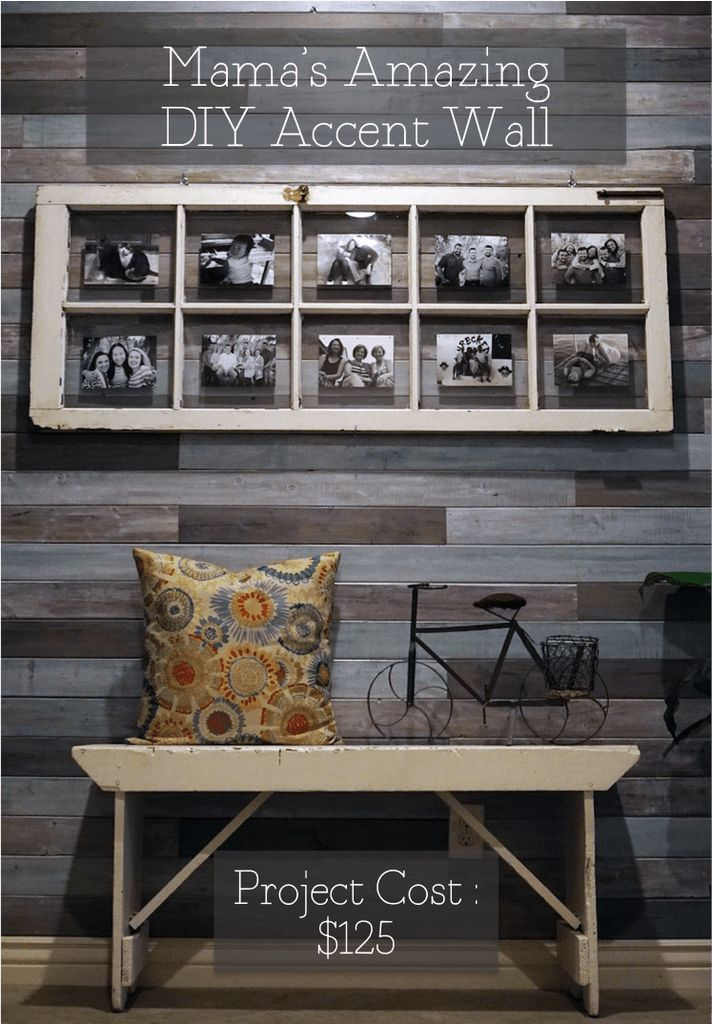 Mama S Amazing Diy Accent Wall With Images Diy Accent
