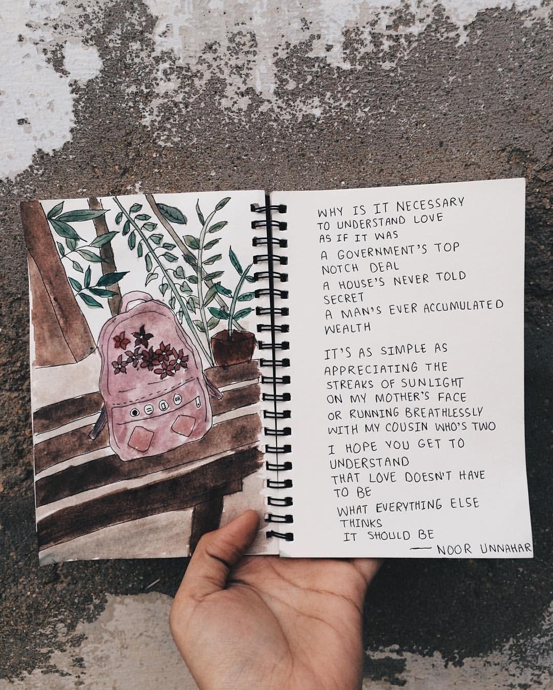how you understand love // poetry by noor unnahar // art ...