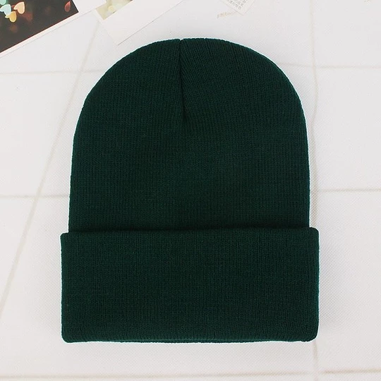Woman Beanies Hats Winter Knitted Solid Autumn Caps Warmer Bonnet Ladies Casual