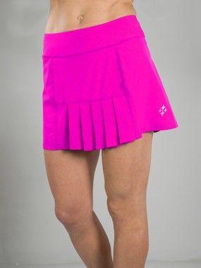 a3674c5b83d JoFit Ladies   Plus Size Dash Pleated Tennis Skorts - Mojito (Fluorescent  Pink)