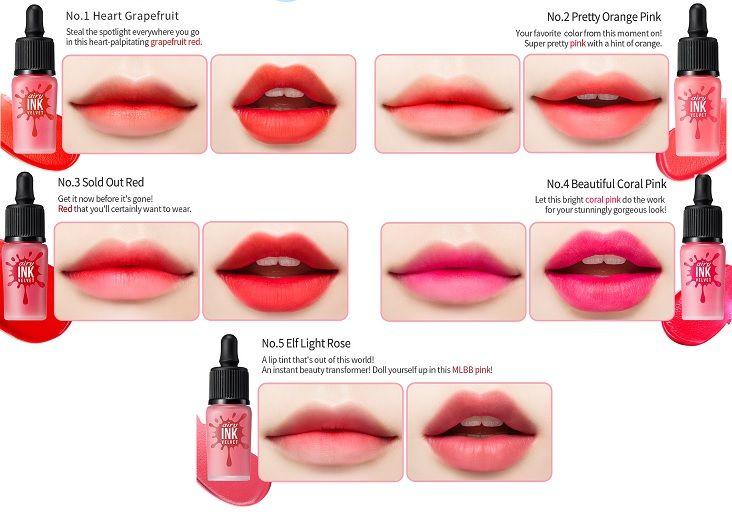 Swatches Jpg 732 522 Lip Tint Lipstick Korean Lipstick