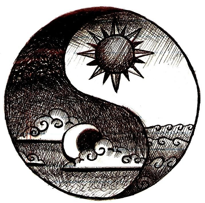 Love this because I want a sun and moon tattoo, and a yin