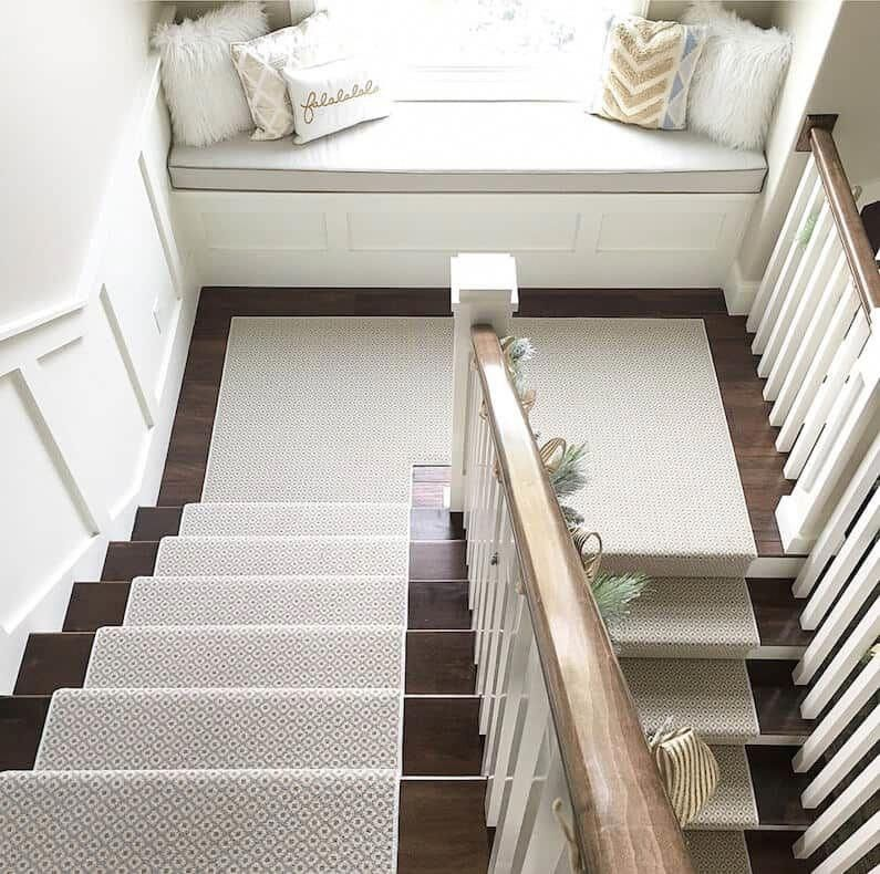 Wooden Stairs With Painted Stripes Updating Interior: Carpet Runners In South Africa In 2020