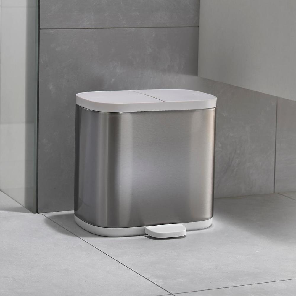 Joseph Joseph Split Recycler Trash Can In 2020 Bathroom Trash Can Stainless Steel Bathroom Bathroom Recycling