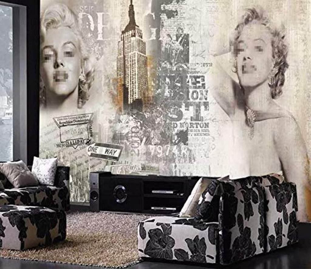 Marilyn Monroe Wallpaper Vintage Artistic Wall Art
