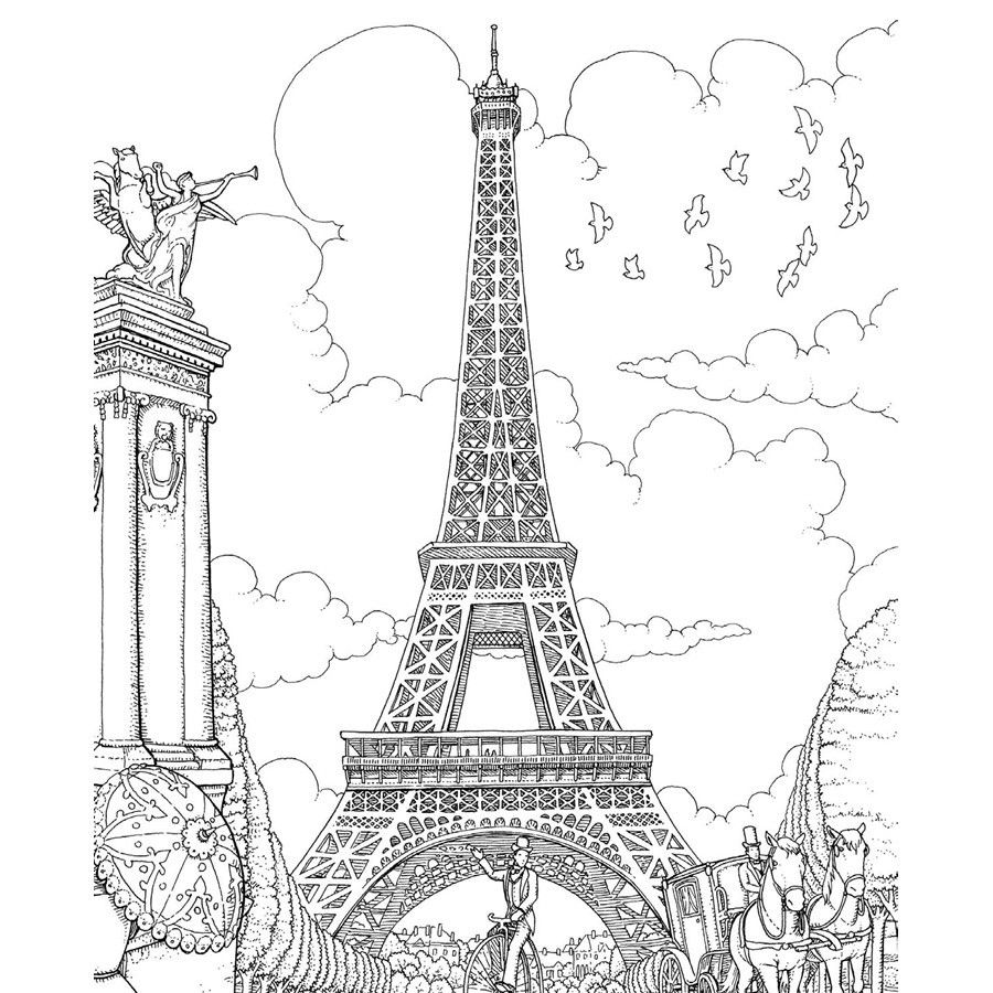 The top 23 Ideas About Paris Coloring Book for Adults