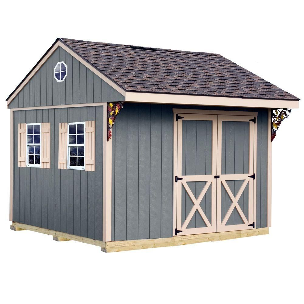 northwood 10 ft x 10 ft wood storage shed kit with floor including