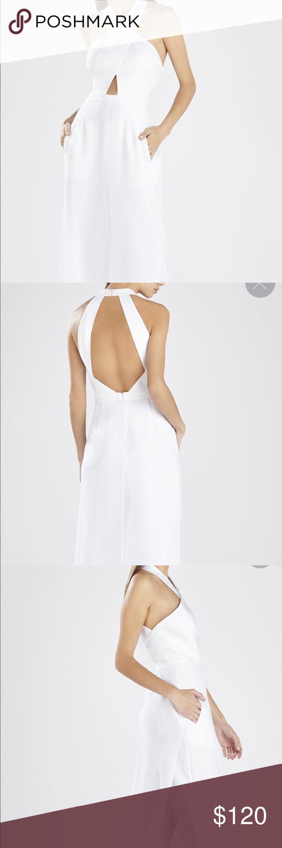 f4cd1b7dd7e6 Bcbg maxazria josselyn halter top white jumpsuit
