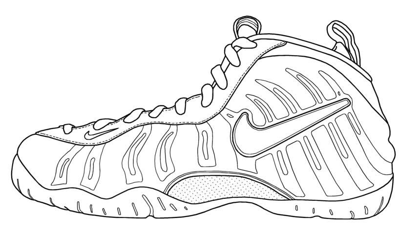 Coloring Kobe Pages Shoes 2020 Sneakers Drawing Shoe