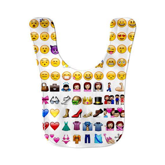 Emoji Emoticon Faces Microfiber Fleece Baby Bib by ...
