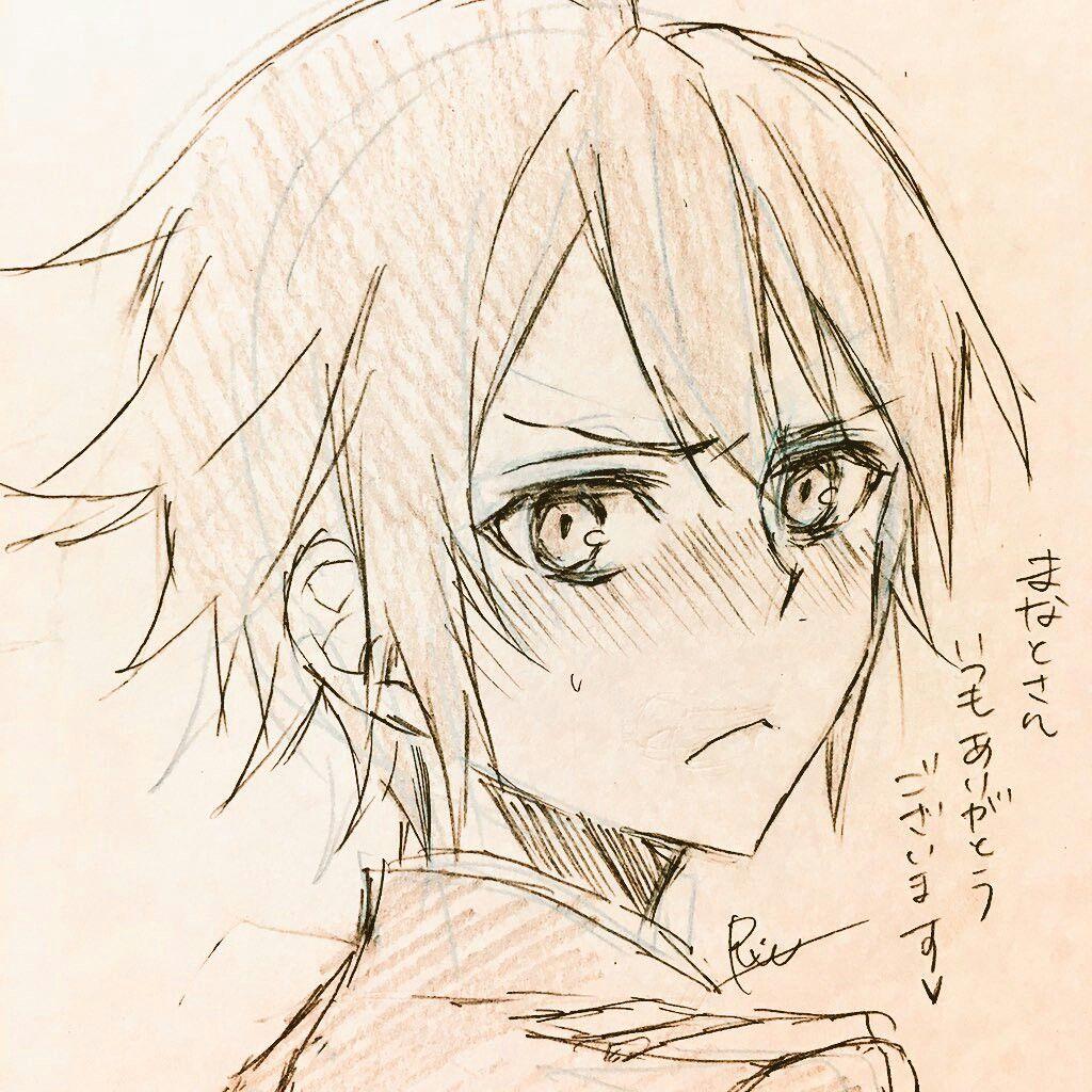 Blushed Yuuchan w Dibujos de anime, Dibujos a lápiz