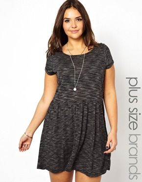 9b38f18e0fb4 New Look Inspire Slub T-Shirt Skater Dress