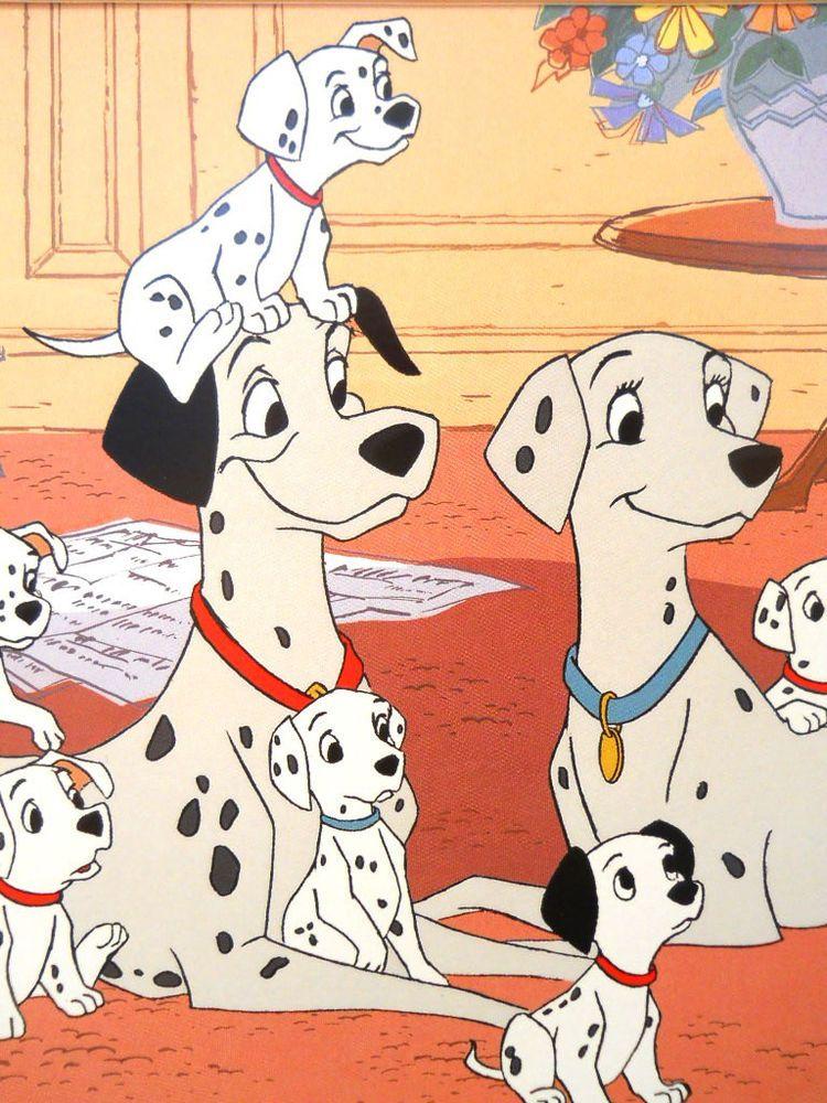 101 Dalmatians Lithograph Roger Anita Black White Dogs