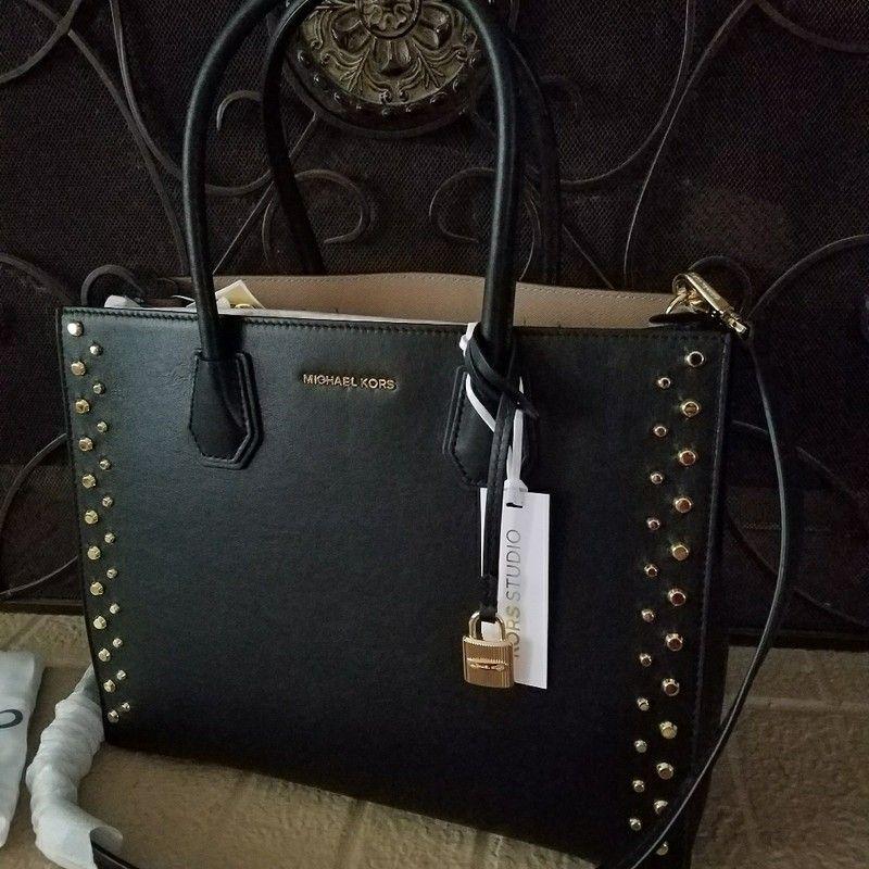 3d41c80b6779 Michael Kors Studded Tote | my vinted closet | Pinterest | Tote bag ...