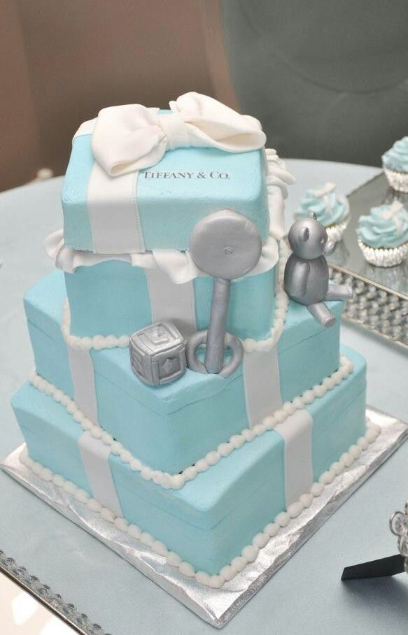Tiffany And Co Baby Shower Cake Baby Showers Pinterest Baby