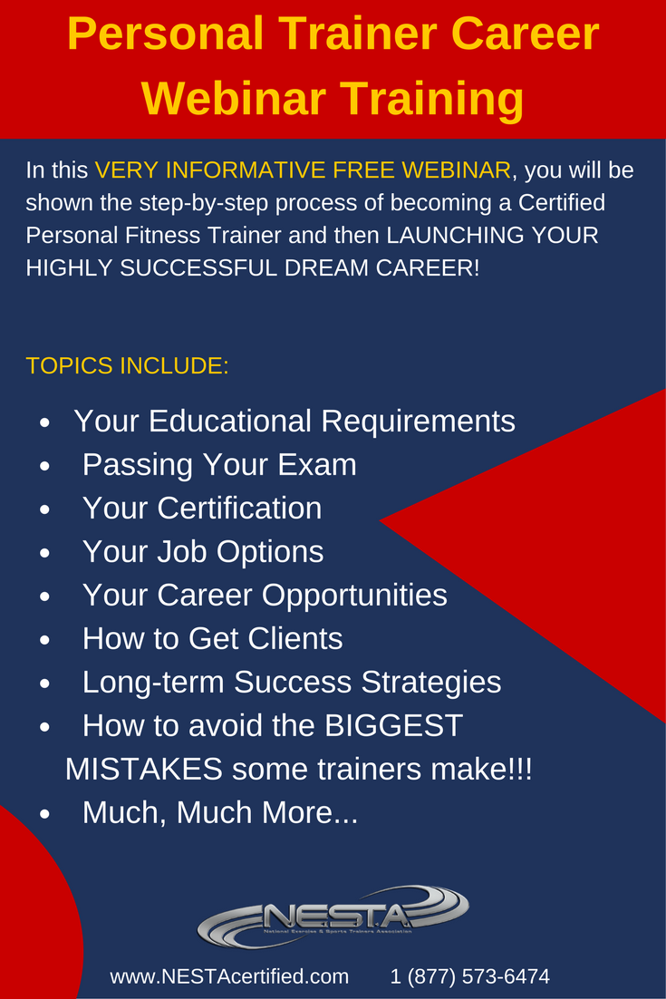 Becoming A Certified And Successful Personal Trainer Free Webinar
