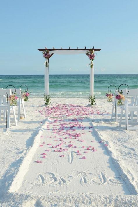 Affordable Beach Weddings Destin Beach Weddings Beach Wedding Aisles Beach Destination Wedding Beach Wedding Arch
