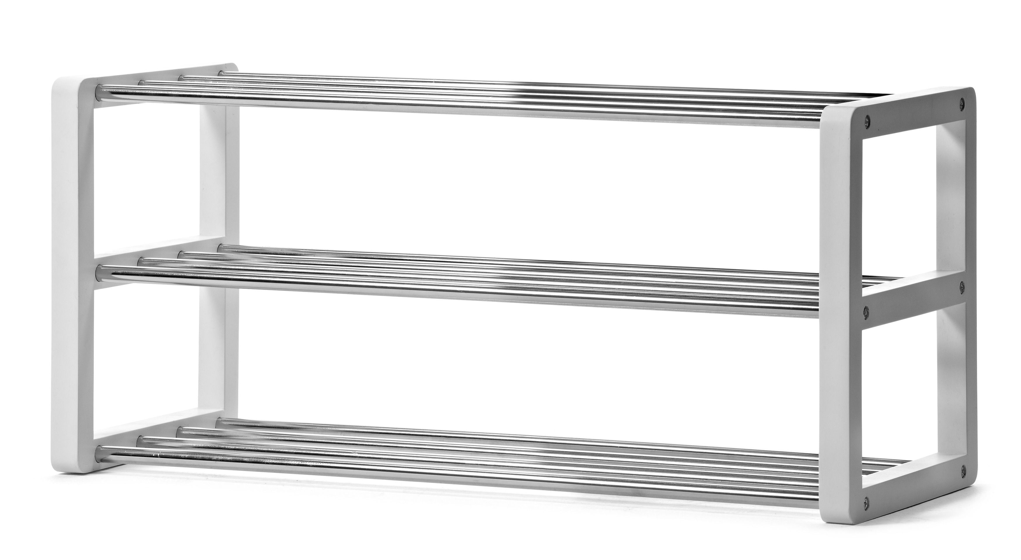 prisvärd skohylla med hyllplan i metall. komplettera gärna med