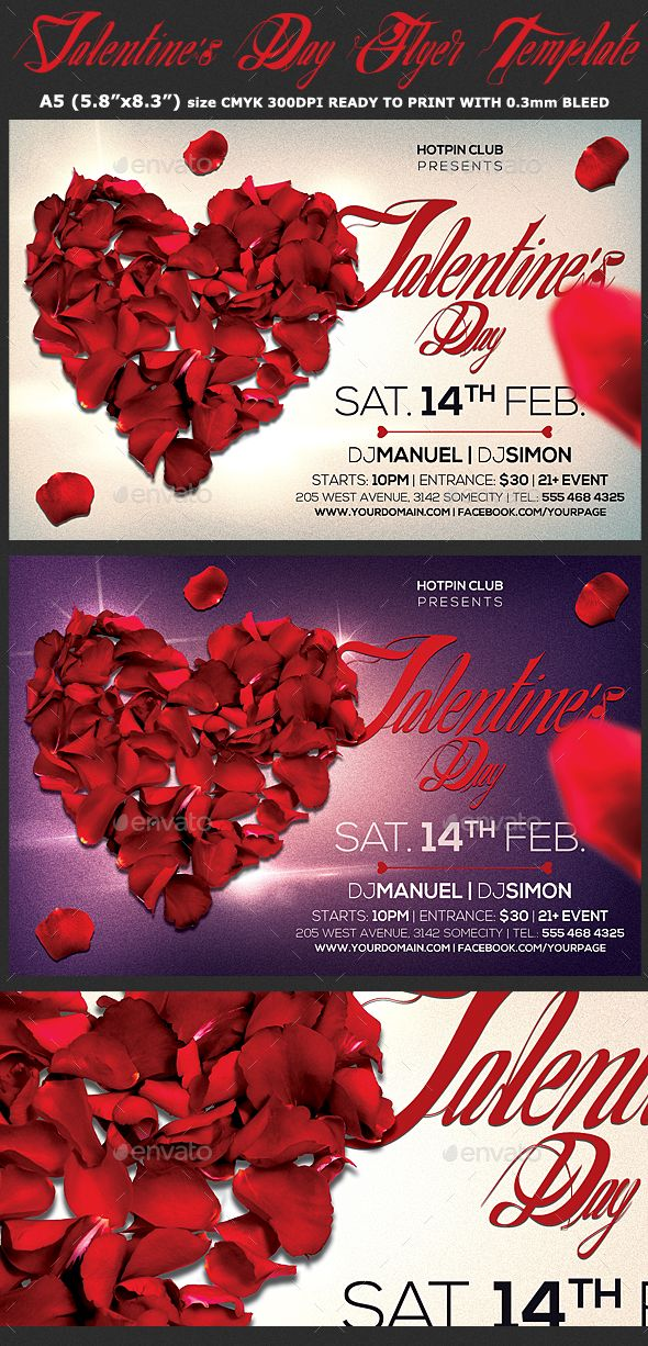 Valentines Day Flyer Psd Template Psd Templates Template And
