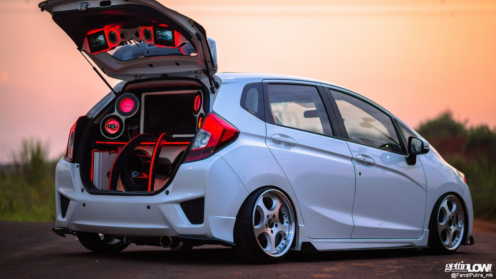 Rizky Jazz Gk5 In 2020 Honda Jazz Honda Fit Jazz Honda Fit Modified