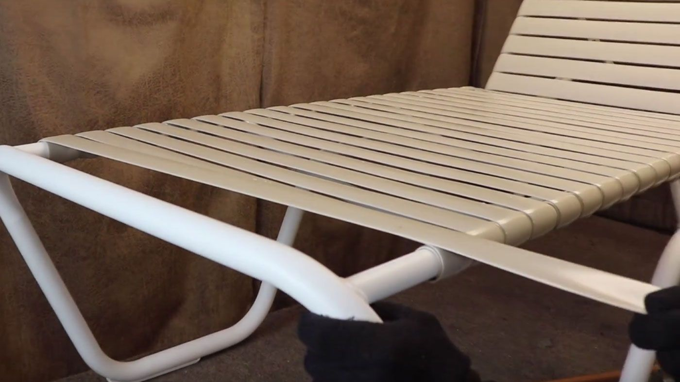 Outdoor Furniture Repair How To Fix A Vinyl Strap On A Lounge Chair Furniture Repair Diy Patio Furniture Outdoor Furniture