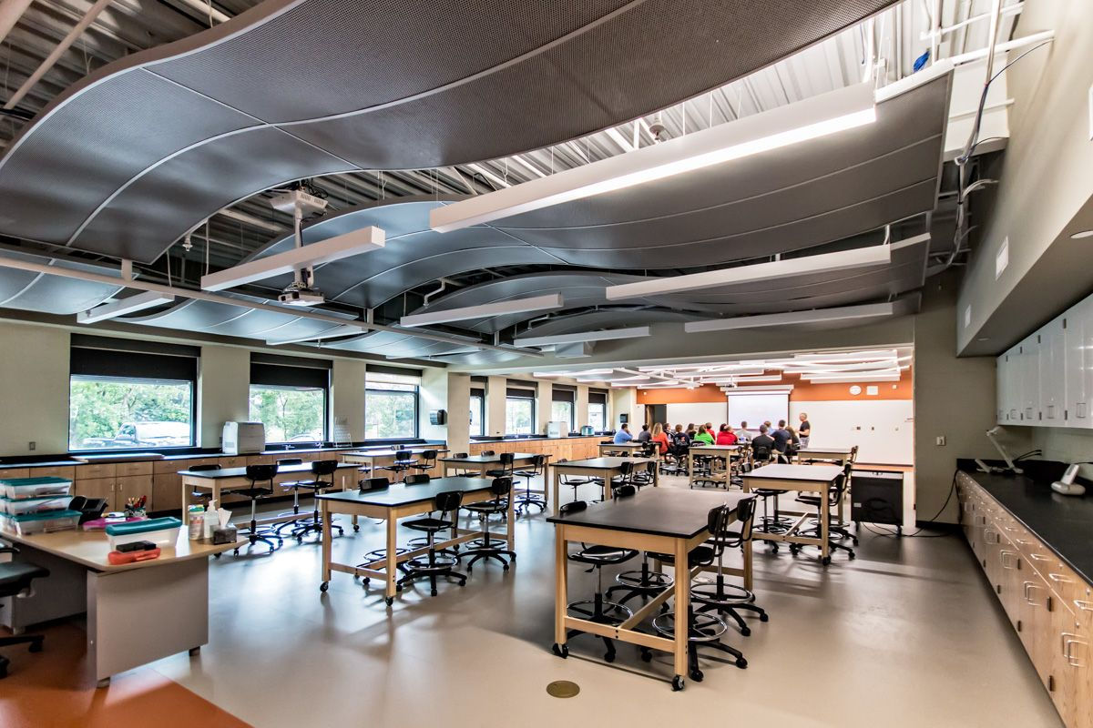Modern Science Classroom ~ A science addition that brings together classroom lab