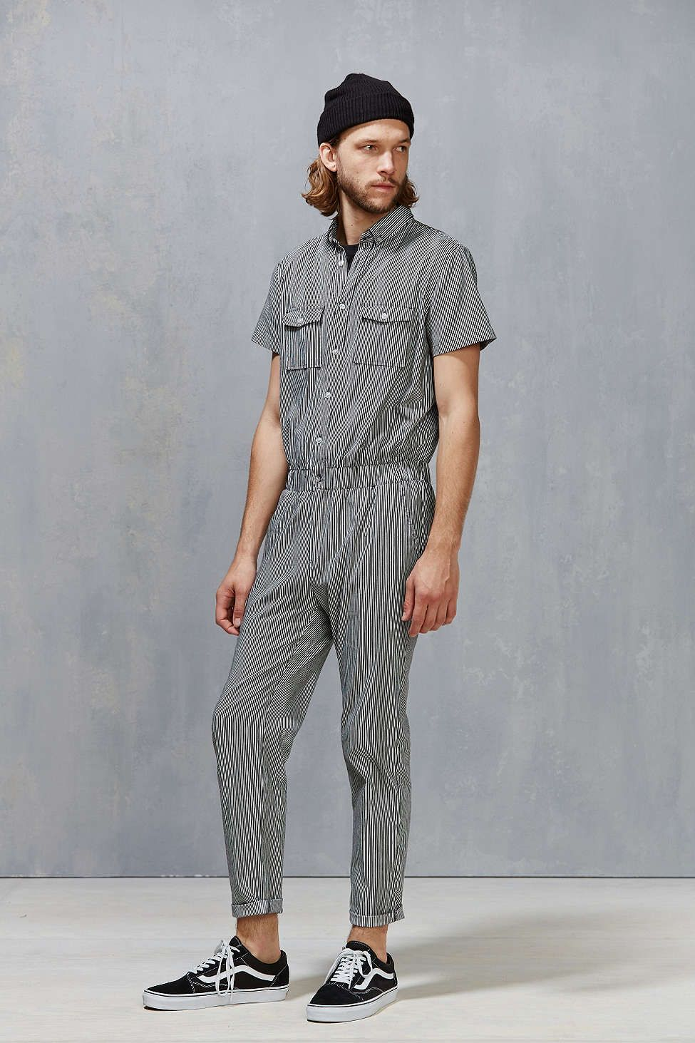 2dcad6a1613 Standard Issue Striped Denim Coverall