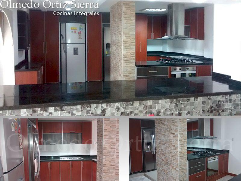 Cocina integral grande colores tierra armon a en tu for Remodelar cocina integral