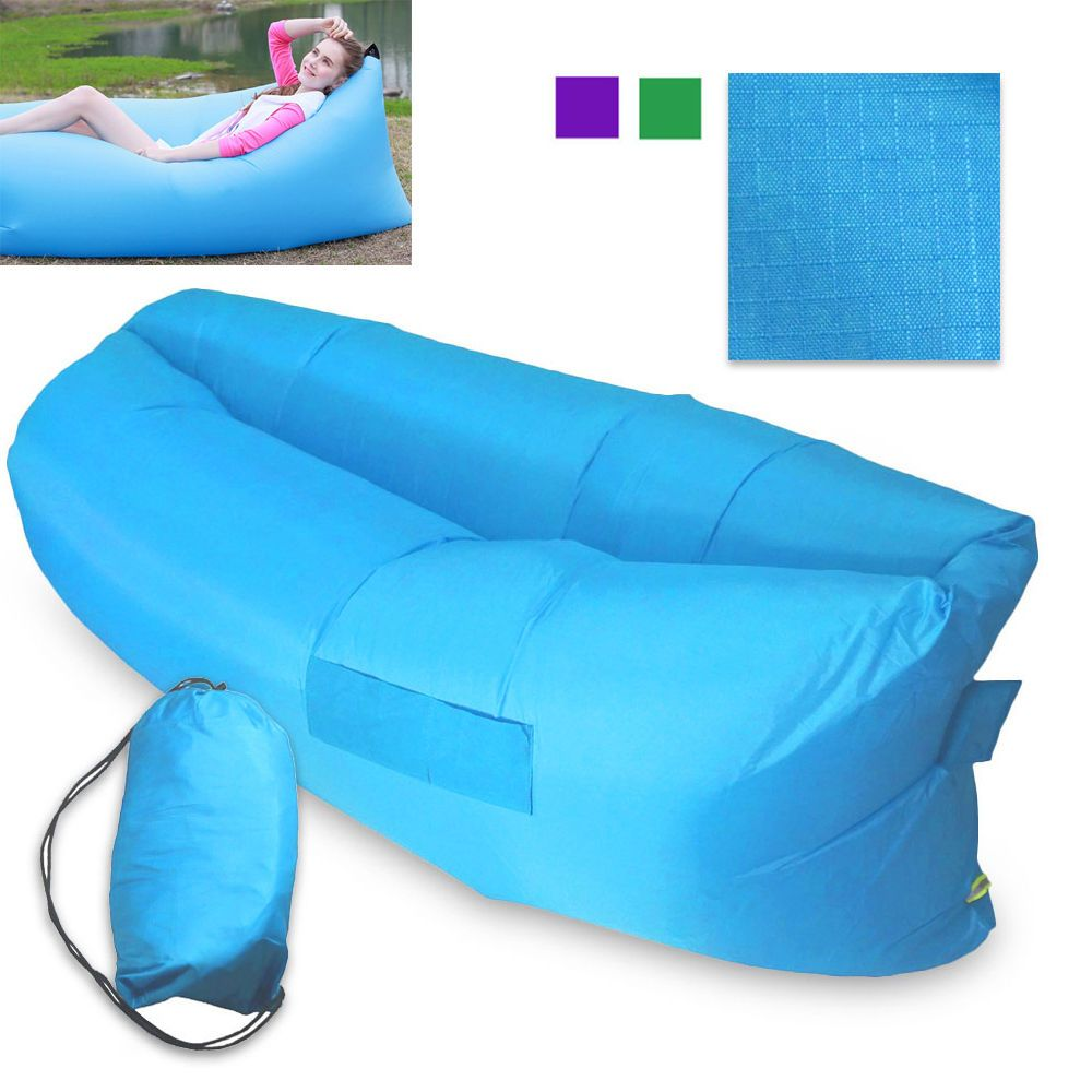 Fast Inflatable Air Bag Sofa Outdoor Beach Camping Sleeping Lazy Bed USA #Unbranded