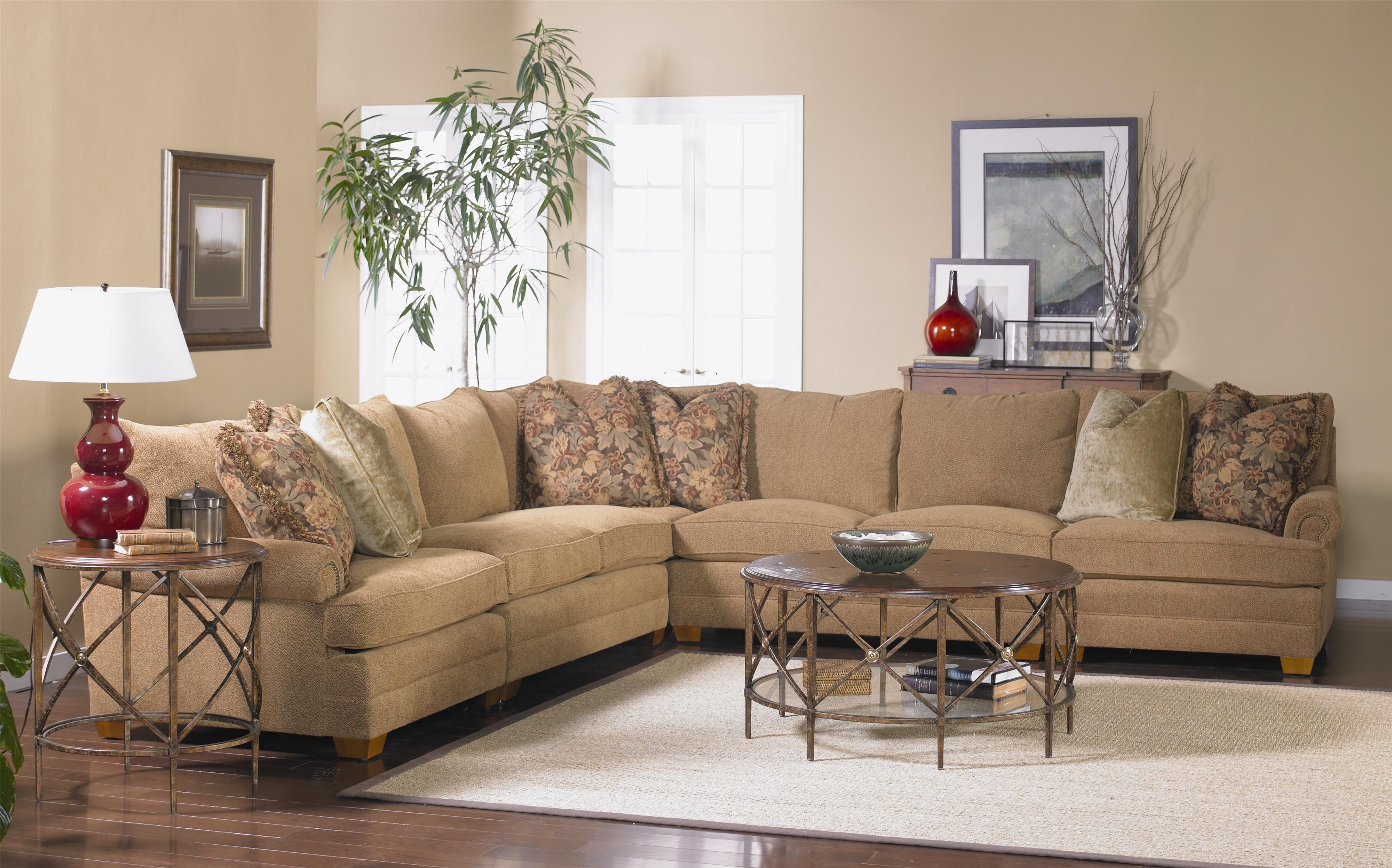 Sam Moore Mason Sectional Sofa with Low Rolled Arms Darvin
