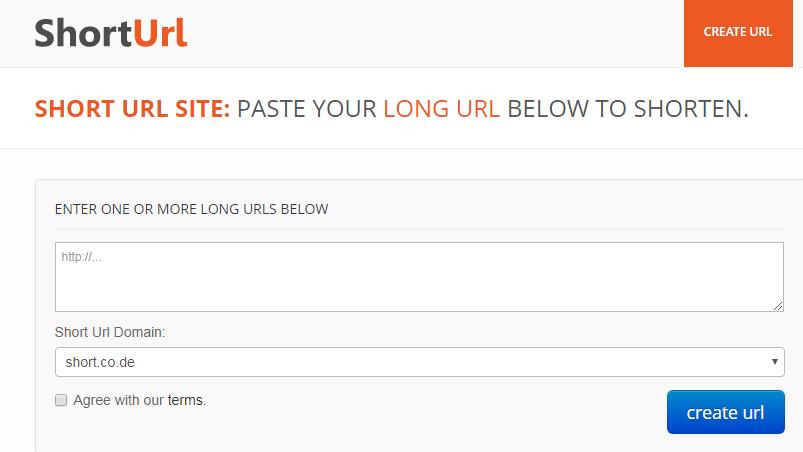 Create short urls from your longer website urls  No