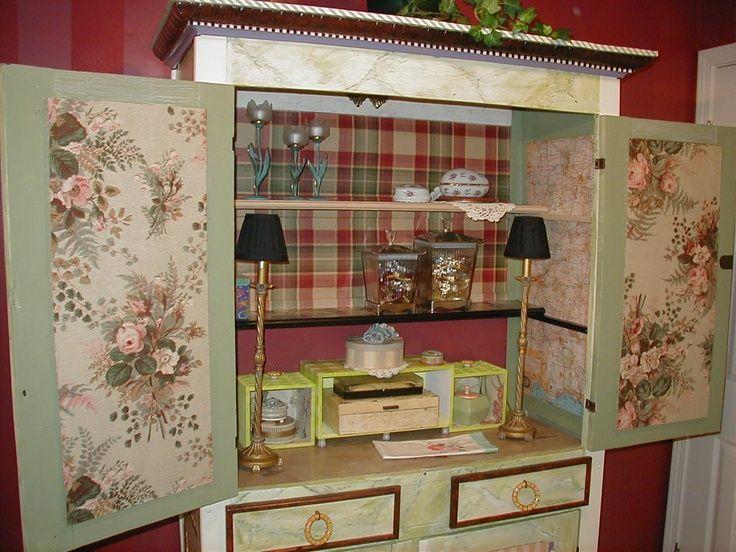 MacKenzie Childs Inspired Furniture | Mackenzie Childs Inspired Pie Safe .  Interior