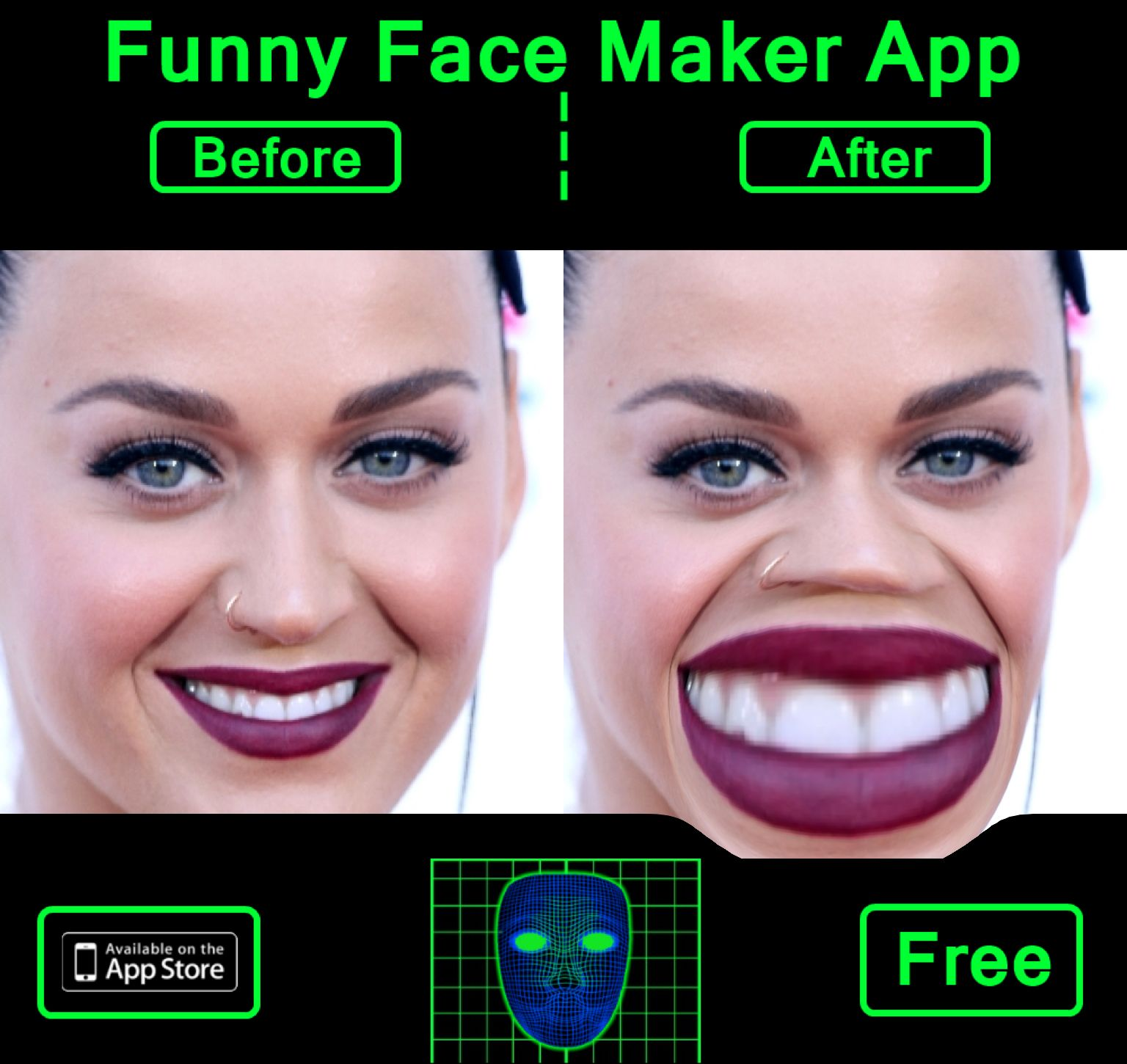 Check this photo I created with Funny Face Maker Booth App