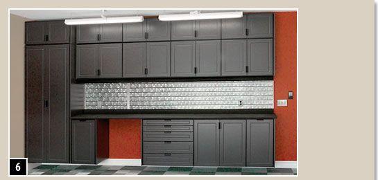 Garage Cabinet And Color Scheme Ideas Garage Interior Garage
