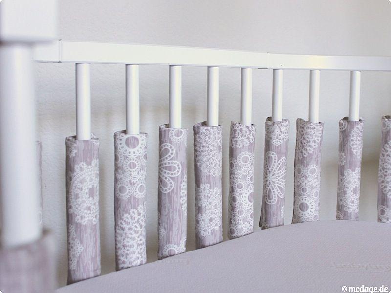 gitterpolster nestchen naehen 1 | baby & kind | pinterest - Nestchen Babybett Motiven Stoffen Ideen