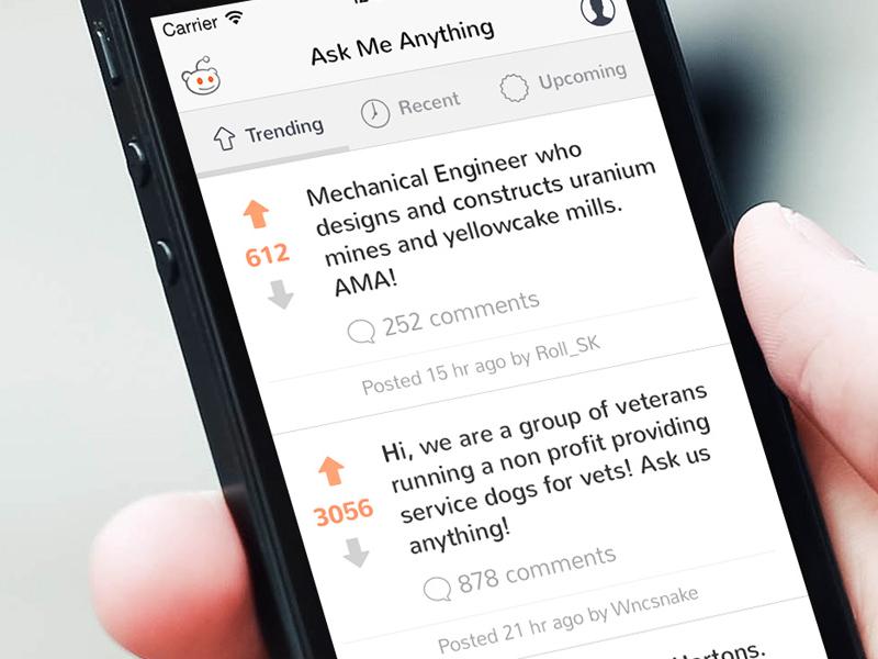 Redesigning Reddit S Ama App