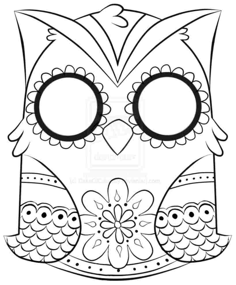 Printable Coloring Pages For Adults Owls Owl To Print Only